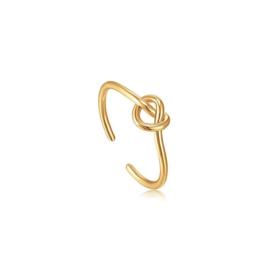 Ania Haie Forget me Knot Goudkleurige Ring van Zilver