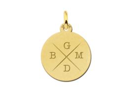 Gouden Initialen Hanger met Vier Letters | Names4ever
