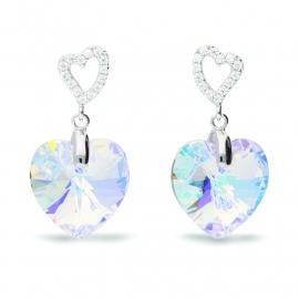 Tender Heart Swarovski Oorbellen van Spark Jewelry