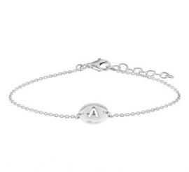 Zilveren Letter Mini Armband voor Dames