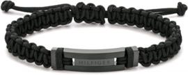 Zwarte Geknoopte Heren Armband van Tommy Hilfiger