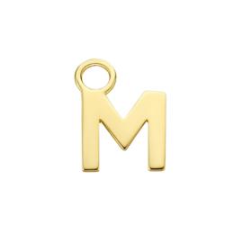 14K Geelgouden Oorringhanger met Letter M