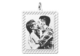 Zilveren Fotogravure Hanger met Sierrand van Names4ever