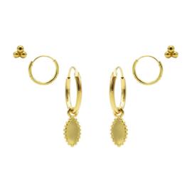 Karma Jewelry – Zesdelige Dotty Delight Earparty Set - Gold