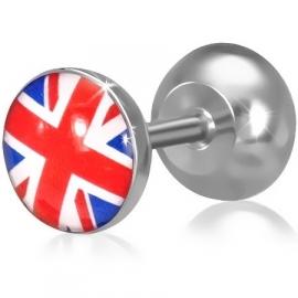 Engelse vlag imitatie piercing oorbel SKU65277