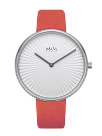 M&M Dames Horloge met Rode Horlogeband