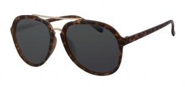 Bruin Gevlekte Zonnebril met Grijze Glazen