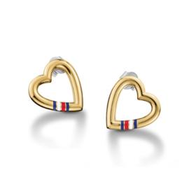 Hartvormige Goudkleurige Oorstekers van Tommy Hilfiger TJ2700910