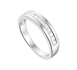 Egale Vlakke Zilveren Ring met Zirkonia's