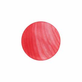 Licht Rode Platte Schelp 24mm Insignia met MY iMenso