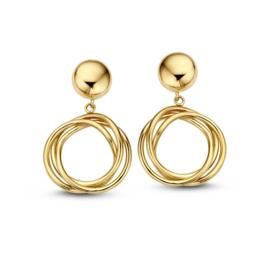 Excellent Jewelry Gouden Oorstekers met Rond Element