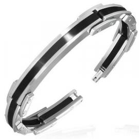 Moderne armband / Zwart PVD-coating