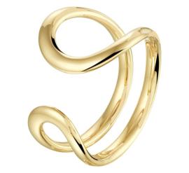 Geelgouden Ring met Dubbele Lus