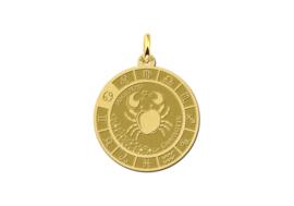 Gouden Kreeft Sterrenbeeld Bedel met Naam GHS088 | Names4ever
