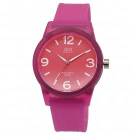 Q&Q roze kunststof unisex horloge