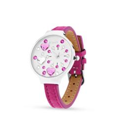 Heart Horloge van Spark met Felroze Horlogeband