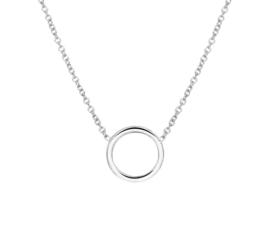 Zilveren Collier met Robuuste Cirkelvormige Hanger