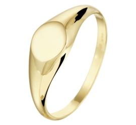 Gouden Dames Zegelring | Kies je eigen letter