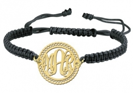 Gouden Decoratieve Monogram Armband GNA10 > Names4ever