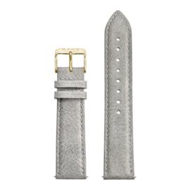 Grijze Lederen Horlogeband met Goudkleurige Sluiting van KANE