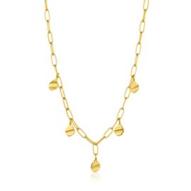 Goudkleurige Crush Drop Disc Necklace van Ania Haie