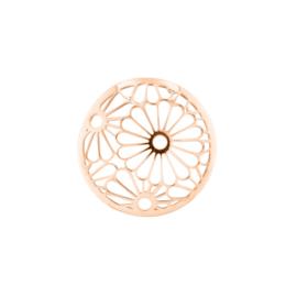 Roségoudkleurige Cover Munt met Opengewerkte Bloemen