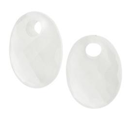 Schitterende Witte Chalcedoon Oorring Hangers