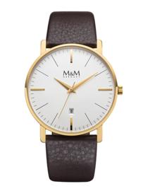 Heren Horloge met Bruin Lederen Band van M&M