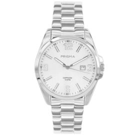 Prisma Edelstalen Heren Horloge met Schakelband