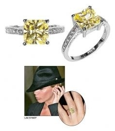 Princess Cut CZ Promise Ring