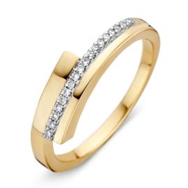 Excellent Jewelry Geelgouden Dames Ring met Briljanten