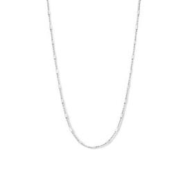 Zilveren Dames Collier Buisjes 1,3 mm 40 + 4 cm