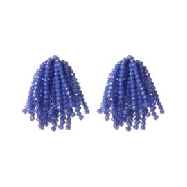 Speelse Blauwe Kralen Oorbellen van BIBA
