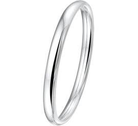 Stevige Dames Bangle armband van Zilver