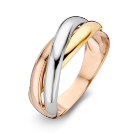 Excellent Jewelry Tricolor Dames Ring