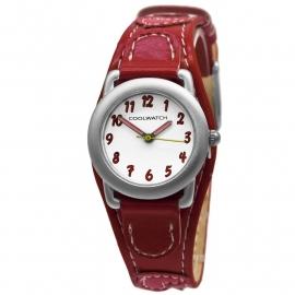 Cool Watch meiden horloge met rode hartjes P.1583