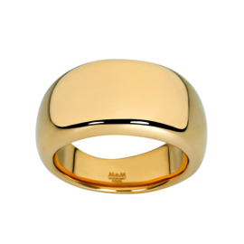 Goudkleurige Bolstaande Ring van Edelstaal van M&M