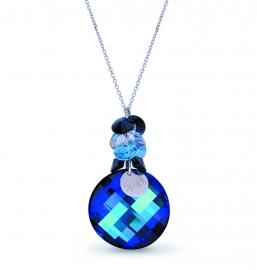 Luna Dives Blauwe Swarovski Ketting van Spark Jewelry