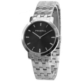 Rond Prisma Heren Horloge met Zwarte Wijzerplaat
