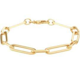 Robuuste Gouden Anker Schakelarmband voor Dames