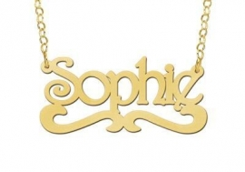 Names4ever Vergulde Sophie Naamketting
