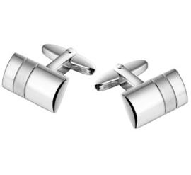 Bolstaande Moderne Manchetknopen van Gerhodineerd Zilver