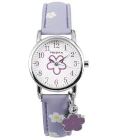 Little Flower Paars Meisjes Horloge met Bloem Bedel