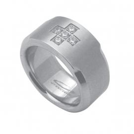 Stevige Ring met Zirkonia's van C MY STEEL