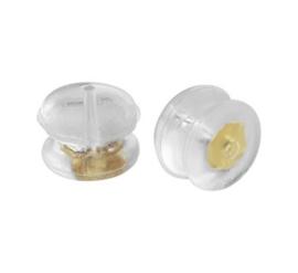 14k Gouden met siliconen oorbellen achterkantjes