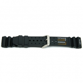 Horlogeband XF13 PVC Duikers Zwart 18mm