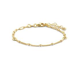 Goudkleurige Dames Armband met Schakels 2,4 mm 16 + 3 cm