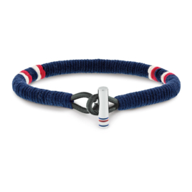 Blauwe Touw Heren Armband van Tommy Hilfiger TJ2701070
