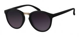 Zwarte Zonnebril met Paarse Glazen
