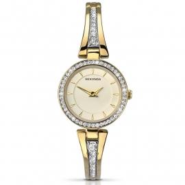 Sekonda Horloge SEK.2153 Dames Goud Strass